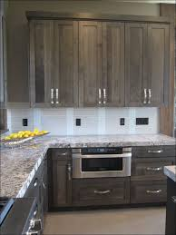 Glazing Kitchen Cabinets Before And After by Kitchen Backsplash For Gray Cabinets Gray Glazed Cabinets