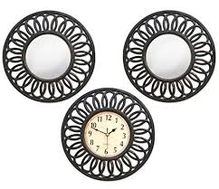 Decorating Items For Living Room by Tiedribbons Decorative Mirrors For Living Room With Wall Clock