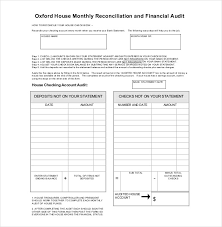 best report format template best monthly reconciliation and financial audit sle with table