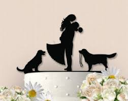 dog cake topper image result for cake topper silhouette and dogs for a pie