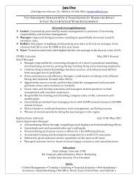 Resume Objective Examples Retail by Resume Objective Examples Retail Management