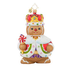 radko 1017697 king gingerbread with crown ornament