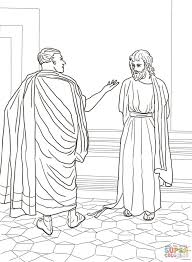 easter bible coloring pages u2013 jesus taken before pilate coloring