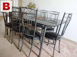 wrought iron dining table glass top wrought iron dining table with 8 chairs 10mm glass top condition 9