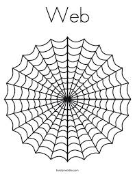 Spider Web Coloring Pages Web Coloring Page Free Printable Spider Spider Web Coloring Page