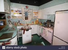 kitchen in a home c 1950 at michigan historical museum lansing