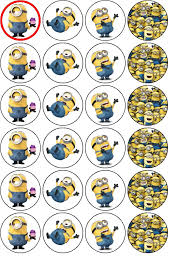 minions cake toppers despicable me minions cupcake cake toppers wafer rice paper