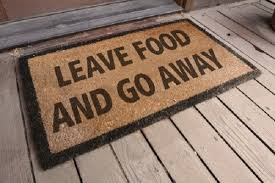 Humorous Doormats Leave Food And Go Away Doormat Quotes Pinterest Doormat