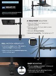 Lock Laptop To Desk by Amazon Com Mount It Mi 4352lt Laptop Notebook Desk Stand Mount