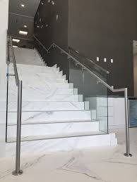 Stainless Steel Handrails For Stairs Commercial Glass Railings In Doral Bella Stairs