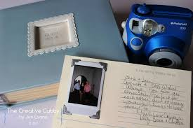 poloroid guest book the creative cubby polaroid wedding guest book
