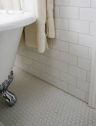white porcelain 1 inch hexagon mosaic tile on 12 x 12 mesh