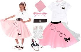 hip hop 50s shop 8 pc small 4 6 girls poodle skirt halloween