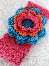 crochet ear warmer headband crochet flower headband skip to my lou