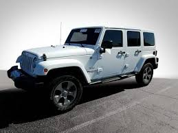 jeep rubicon white 2017 used 2017 jeep wrangler unlimited sahara for sale hendrick toyota