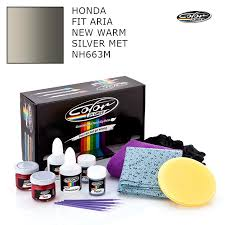 honda touch up paint honda fit aria new warm silver met nh663m