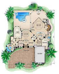 floor plan interior design mediterranean house plans with pool