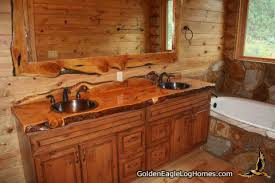 log home bathroom ideas golden eagle log and timber homes design ideas log home bathrooms