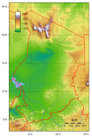 Topographic Map Of Usa by Detailed Topographical Map Of Chad Chad Detailed Topographical