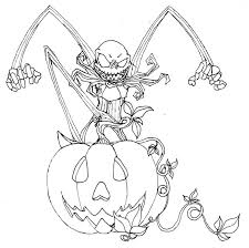 nightmare christmas halloween coloring pages jpg