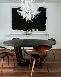 Black Wooden Dining Table And Chairs 34 Masculine Dining Space Furniture Ideas To Rock Digsdigs