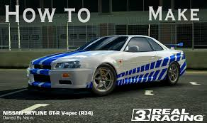 nissan skyline fast and furious interior how to make 2 fast 2 furious nissan skyline gtr in real racing 3