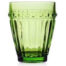 bicchieri verdi pois confezione 6 bicchieri tavola verdi