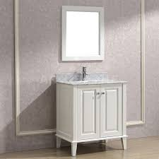Contemporary Bathroom Cabinets - art bathe lily 30 inch contemporary bathroom vanity white finish