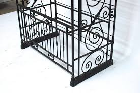 Wrought Iron Bakers Rack With Glass Shelves Bakers Racks Bakers Rack Shelves Shelves Rack Bakers