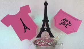 paris theme baby centerpiece and eiffel tower paris party
