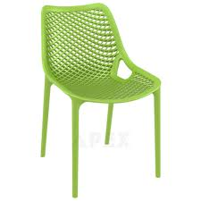 Green Plastic Outdoor Chairs Kassandra Plastic Outdoor Chair Commercial Quality Stackable Apex
