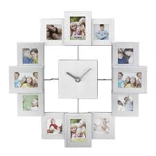 anniversary clock gifts vonhaus 12 picture aluminum decorative photo frame