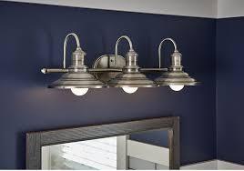 allen roth bathroom vanity 3 light fixture antique pewter cone