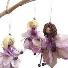 ornaments handmade doll flower doll lavender silver