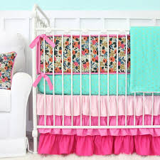 Teal And Purple Crib Bedding Pink Crib Bedding Caden
