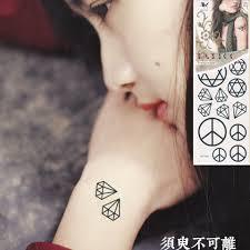 temporary sticker unisex small arm anti war signs