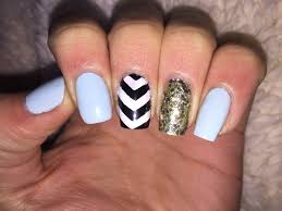 cute nail art tutorial black and white chevron youtube