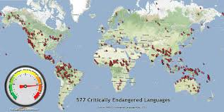 World Language Map by The Language Conservancy What Is Language Loss
