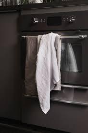 sunshine kitchen towel in soft washed linen himla