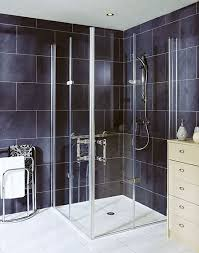 bi fold hinged glass shower door l5