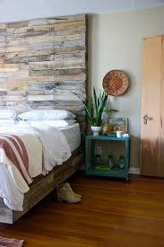 Reclaimed Wood Platform Bed Reclaimed Wood Platform Bed Bedroom Eclectic With Beige Wall