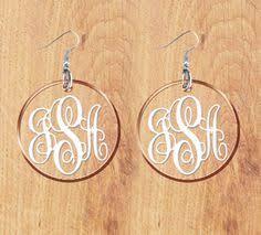 Monogrammed Earrings Monogram Earrings Choose Your Color Earring And Vinyl Letters