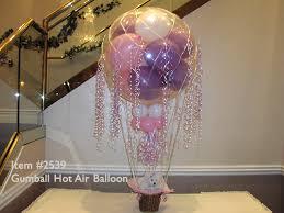 hot air balloon centerpiece balloon centerpieces 2539 gumball hot air balloon centerpiece