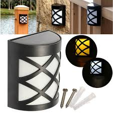 Solar Power Led Outdoor Lights Solar Power 6 Led Garden Fence L Wall Mounted Courtyard Lawn