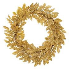 Gold Home Decor Accessories by Accessories Fetching Wall Mounted Green Bayleaf Round Wreath