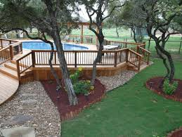 Deck Landscaping Ideas 14 Great Above Ground Swimming Pool Ideas
