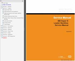 case 580e u0026 580s backhoe loader service u0026 operator u0027s manuals