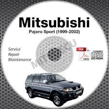 1999 2002 mitsubishi pajero sport service manual cd rom workshop