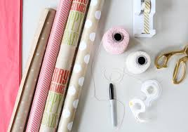wrapping supplies tips for simple gift wrapping green fingerprint