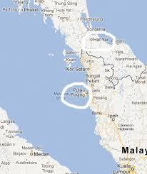 map of hat yai penang malaysia